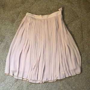 Worn Club Monaco Pale Pink Pleated Midi Skirt
